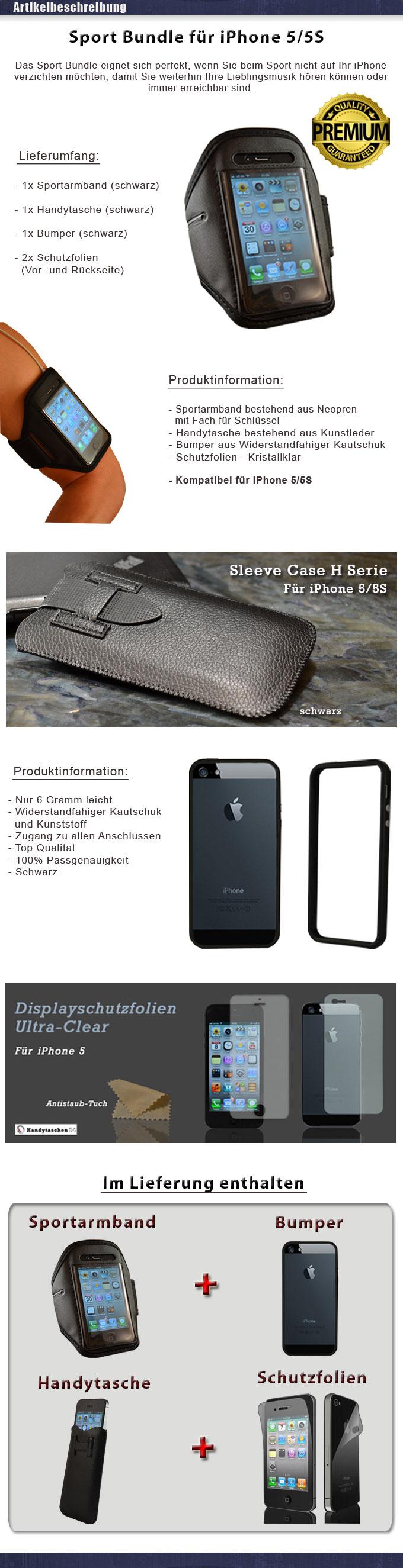 iphone 5 5s sport handy tasche case cover etui schutz. Black Bedroom Furniture Sets. Home Design Ideas