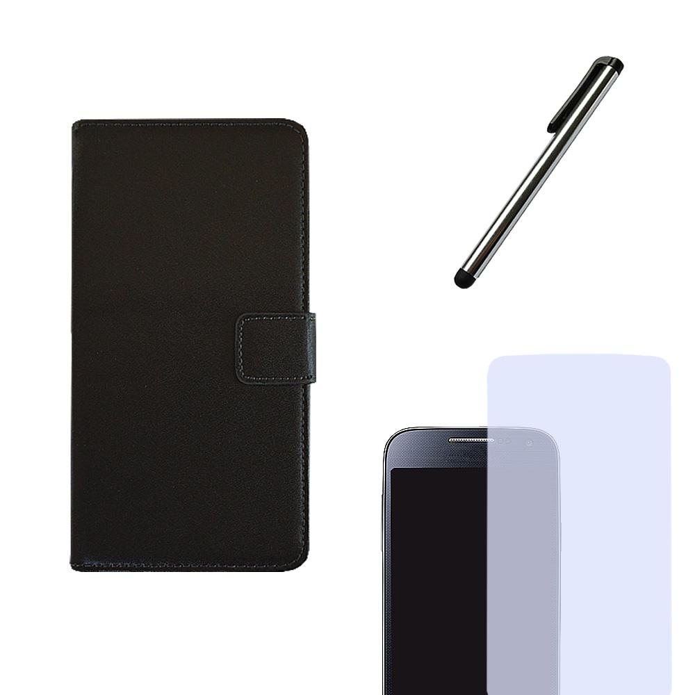 Brief Tasche Handytasche für Motorola Flip Case Hülle Etui BOOK STYLE + Folie